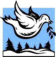 White dove of peace flying with olive branch